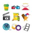 Movie icons set vector image