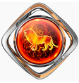Horoscope lion 3D vector image