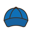 baseball cap isolated icon vector image