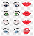Beauty female eye and lip vector image