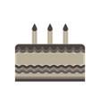 cake birthday happy celebration sweet icon vector image