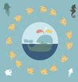 Design with sea chracters vector image