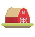 Flat Style of Farmhouse Farming concept vector image
