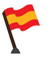 isolated flag of spain vector image