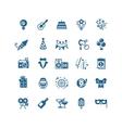 Party fun wedding celebration icons vector image