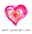 Valentine Card Painted Pink vector image