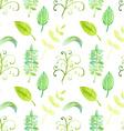 Watercolor leaf in vintage style vector image