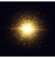 Golden star flash vector image