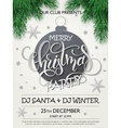 christmas party poster with fir-tree vector image vector image