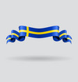 Swedish wavy flag vector image vector image