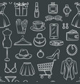 fashion sale seamless pattern vector image