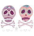 Mexican sugar skull set vector image