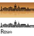rosario skyline vector image