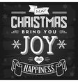 Christmas greetings chalkboard vector image