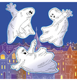 ghost drawing vector image vector image