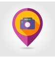 Photo Camera flat mapping pin icon vector image