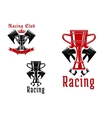Racing sport club or competition icon design vector image vector image