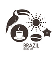 Brazil Icon set vector image