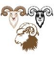 Goat set vector image