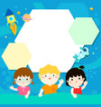 happy children xaon universe background vector image
