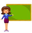 happy teacher vector image