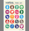Medical and human web icons set drawn by chalk vector image
