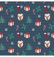 Seamless christmas pattern in vector image