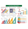 Education infographic placard template vector image