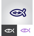 christian fish as eye symbol vector image