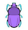 scarab icon cartoon vector image