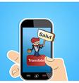 Translation app vector image vector image
