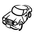 cartoon image of car icon automobile symbol vector image