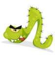 green caterpillar character vector image