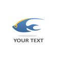 Fish logo template design vector image