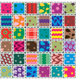 patchwork fabric vector image vector image