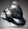 Abstract asymmetric monochrome object with black vector image