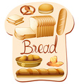 Different kind of bread vector image