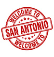welcome to San Antonio vector image