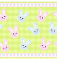 bunnies pattern vector image