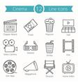 Cinema Line Icons vector image