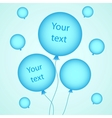for your design with balloons vector image