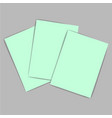 green paper vector image