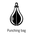 punching bag icon simple black style vector image