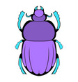 scarab icon cartoon vector image