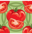 seamless pattern of ripe red tomato vector image