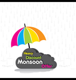 Heavy discount monsoon offer poster design vector image