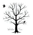 Winter tree vector image vector image