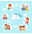family online social media vector image
