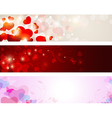 Valentine banners vector image vector image