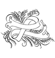 calligraphy band vector image vector image